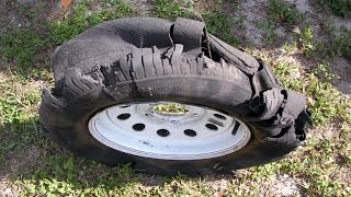 Blown tires on Aliner or small travel trailers. Why?