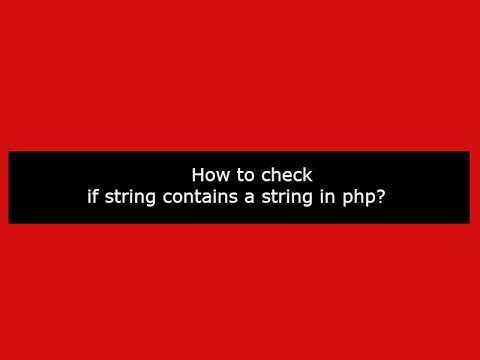 string contains php