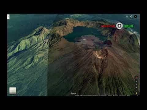 Takjub!!! inilah penampakan Full 3D Gunung Rinjani [Maps 3d)