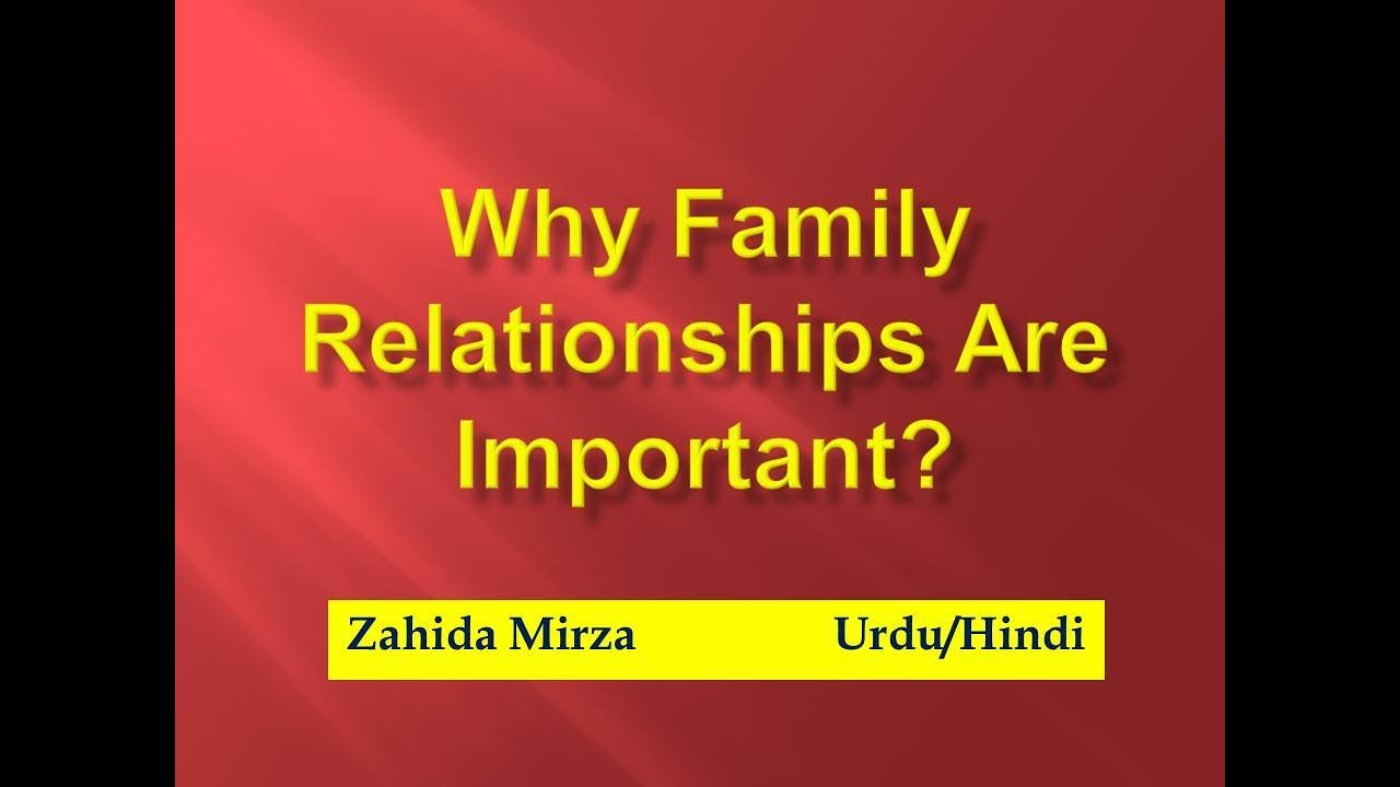 importance of having a good family relationship