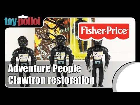 Vintage Adventure People Clawtron Restoration - Fisher Price - Toy Polloi