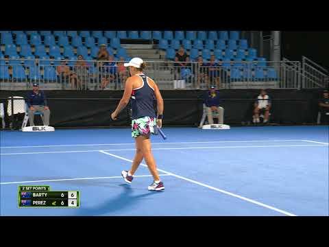Ashleigh Barty v Ellen Perez Match Highlights (R2)   Sydney International 2018