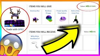 Giving Myself Items to MAKE ME RICH! (Roblox Trading)