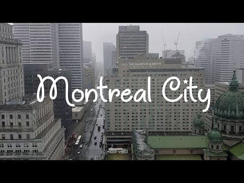 First Snowfall In Montreal City, November 7, 2019 Downtown