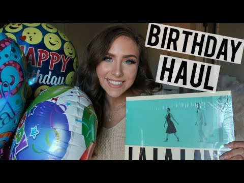 20th Birthday Haul | 2017