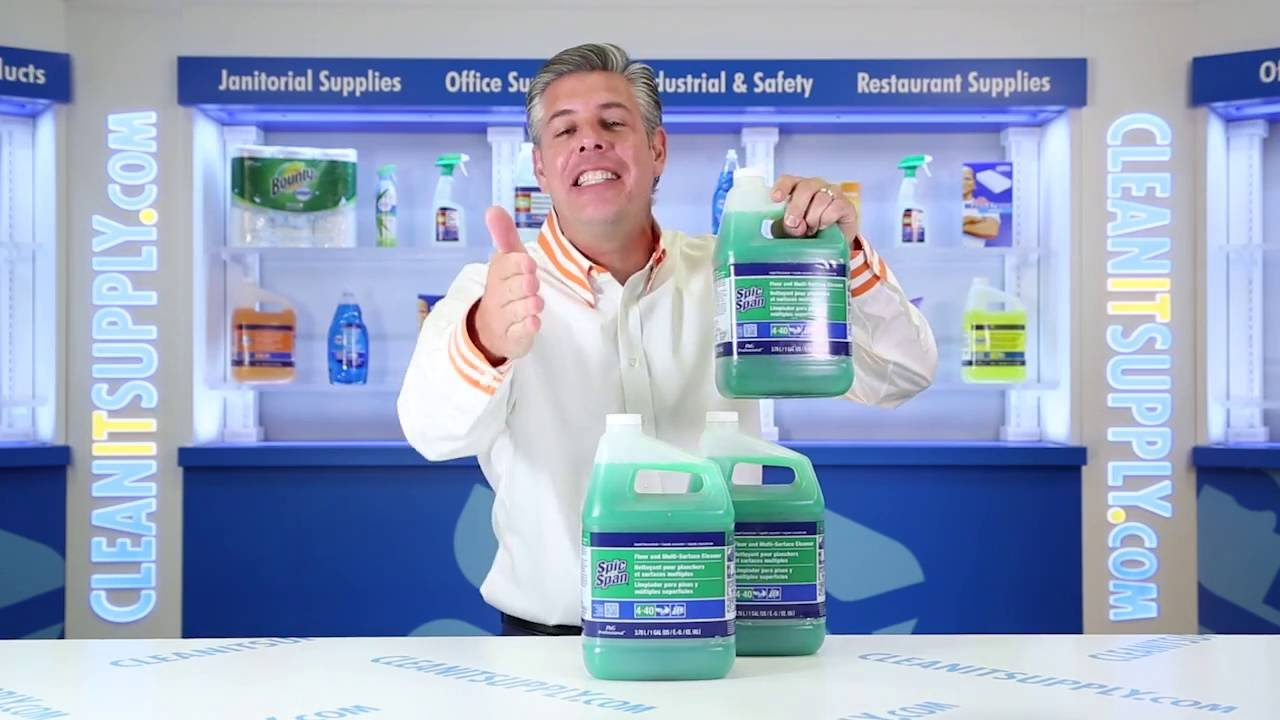 Spic And Span 02001 Liquid Floor Cleaner 3 Gallons Youtube