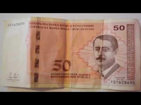 50 Bosnian Convertible Mark Banknote - Fifty Bosnian Mark paper Republica of Srpska Look