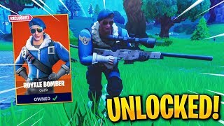 """ROYALE BOMBER"" Skin UNLOCKED! Fortnite Battle Royale Leaked Skin Gameplay"