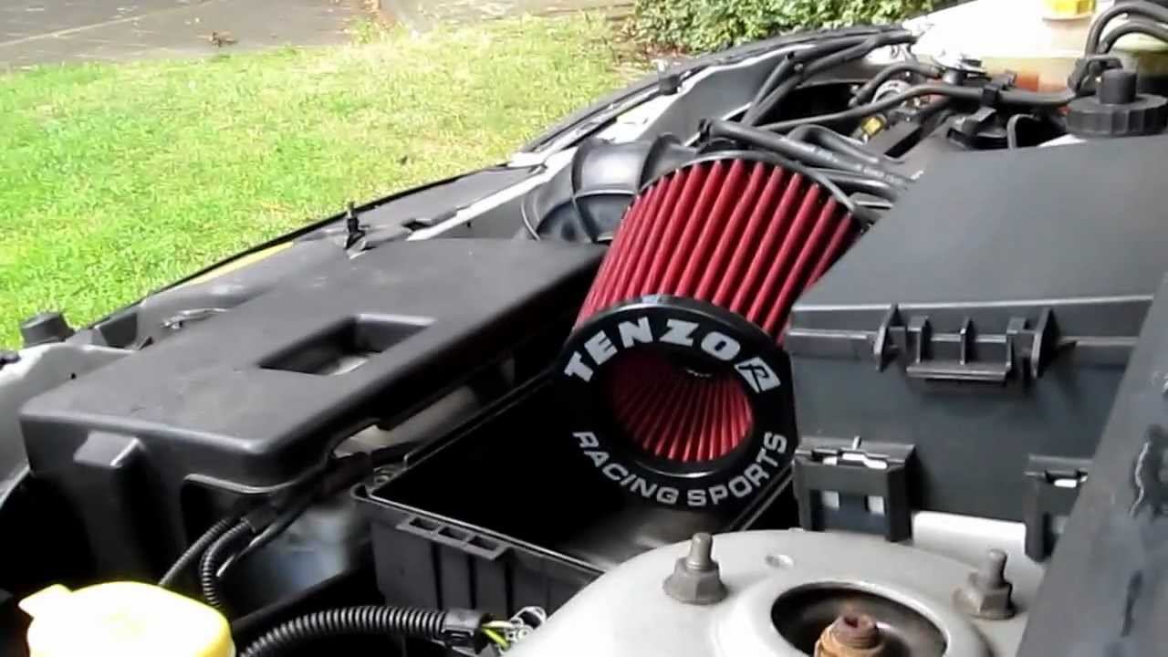 Ford Focus mk1 1.4 With Open Air Filter - YouTube
