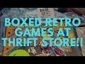 Video game hunting: Boxed Super Nintendo games at thrift store!!!