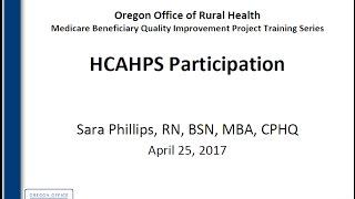 ORH MBQIP Module 4 recording: HCAHPS Participation