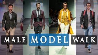 MALE MODEL RUNWAY WALK TUTORIAL: Walking tips at fashion week