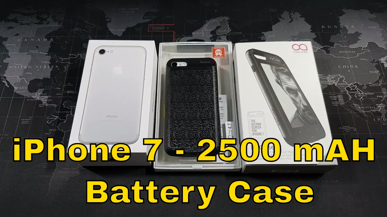 lowest price 84584 17a67 iPhone 7 2500 mAh Battery Case from Baseus