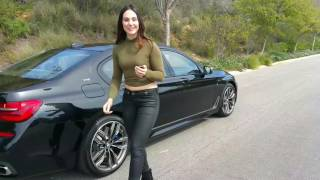 "2017 BMW M760i Exhaust Sound / Remote Parking / 20"" M Wheels / BMW Review"