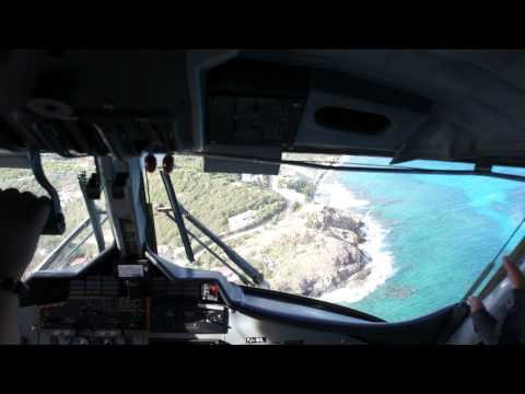Landing to St. Barthelemy Island, French Antilles, Caribbean