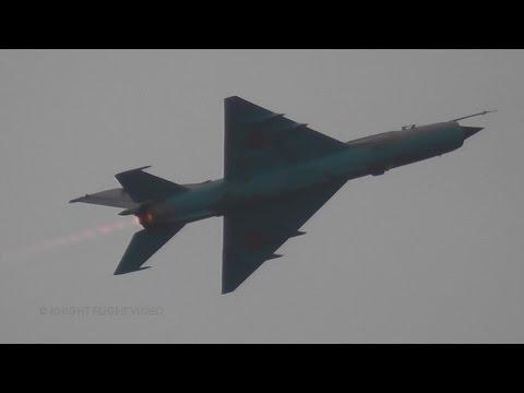 RoAF MiG-21 Lancer Full Afterburner Display @ NATO DAYS 2016