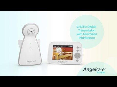 """Монитор движения + видеоняня с 3,5"""" LCD дисплеем Angelcare AC1300, витринный экземпляр. Видео №2"""