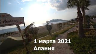 ALANYA Первый день Весны 2021 в Алании от отеля Acar идем на пляж Krizantem
