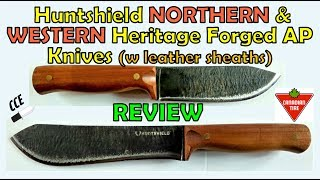 REVIEW: Huntshield NORTHERN and WESTERN Heritage Forged AP Knives - Canadian Tire store product