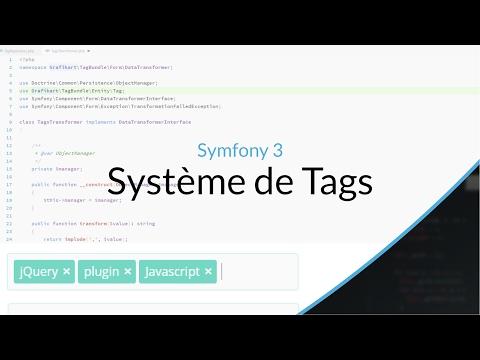 Tutoriel Symfony : Système de Tags
