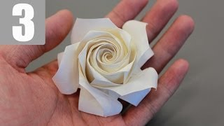 Part3/3 : How to fold Naomiki Sato Origami Rose (Pentagon Rose) 佐藤直幹 摺紙玫瑰教學