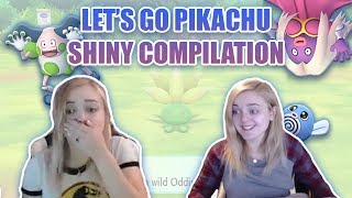 Lets Go Pikachu Shiny Pokemon Reaction Compilation!