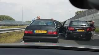 Ne jamais emmerder les papys néerlandais ! Road Rage violent