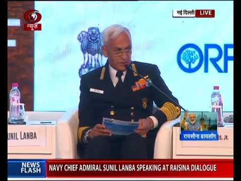 Navy Chief speaks at Raisina Dialogue