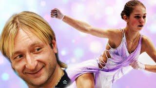 Трусова без тройного акселя в НОВОМ платье Плющенко сдерживает её в прыжках