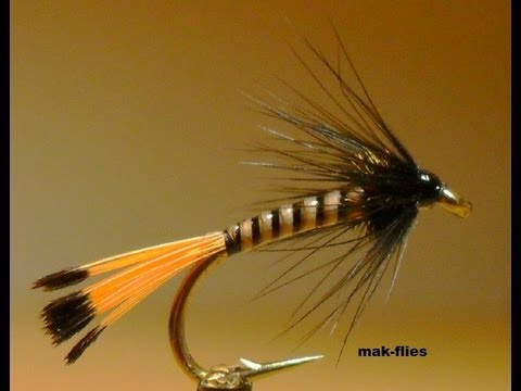 Tying a Quill Pennell Trout Fly By mak-flies 2013