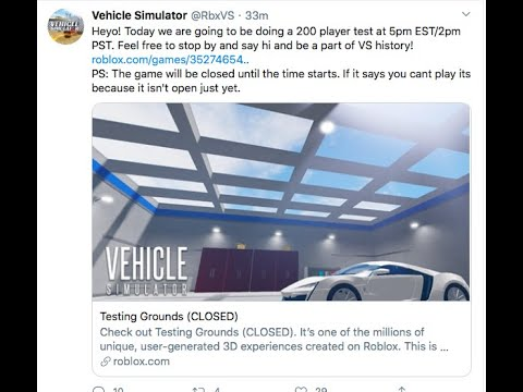 Roblox Testing Simulator Roblox Vehicle Simulator Testing Grounds Youtube