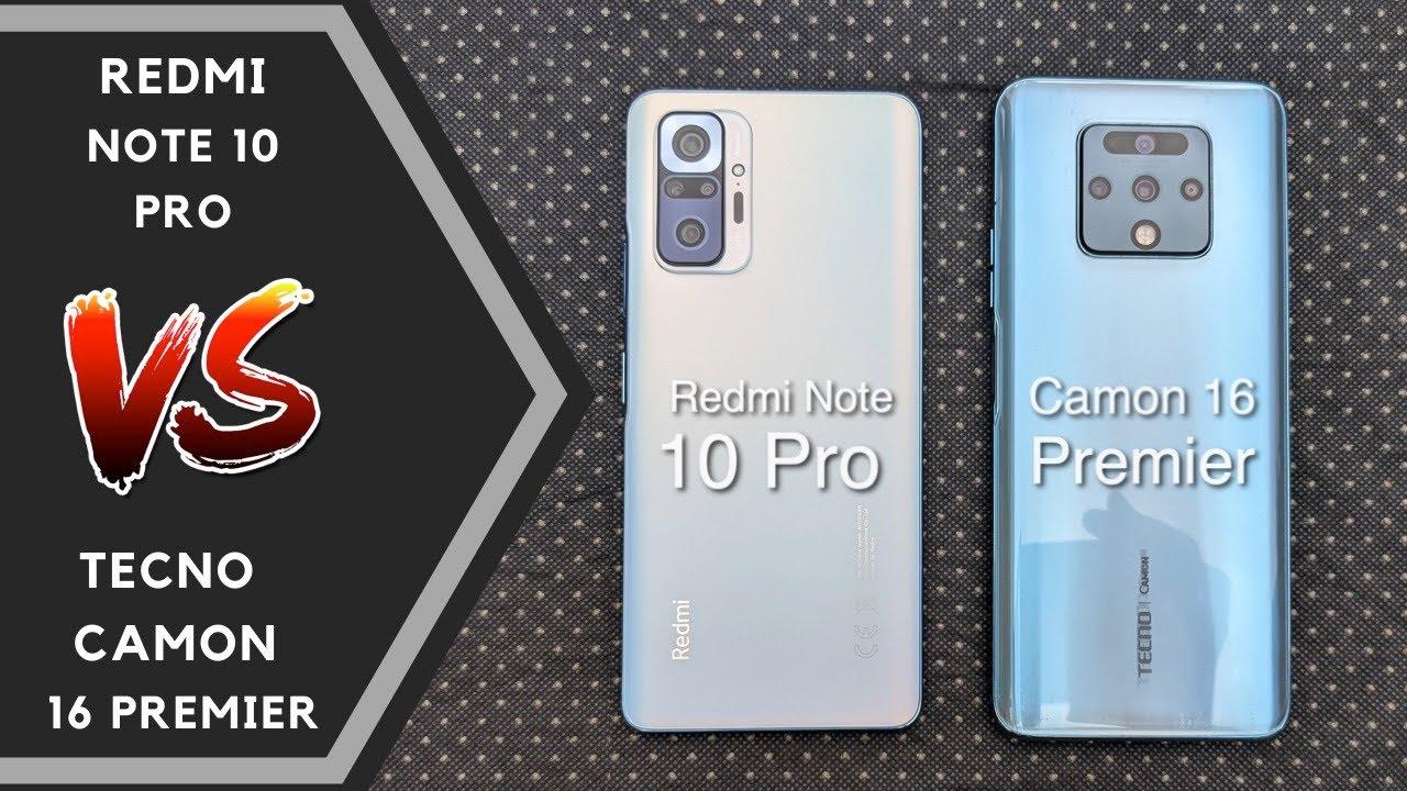 Download XIAOMI Redmi Note 10 Pro Vs TECNO Camon 16 Premier Comparison - Speed Test, Camera & Features