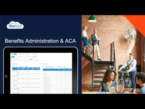 OnePoint Benefits Administration Software Solutions Overview