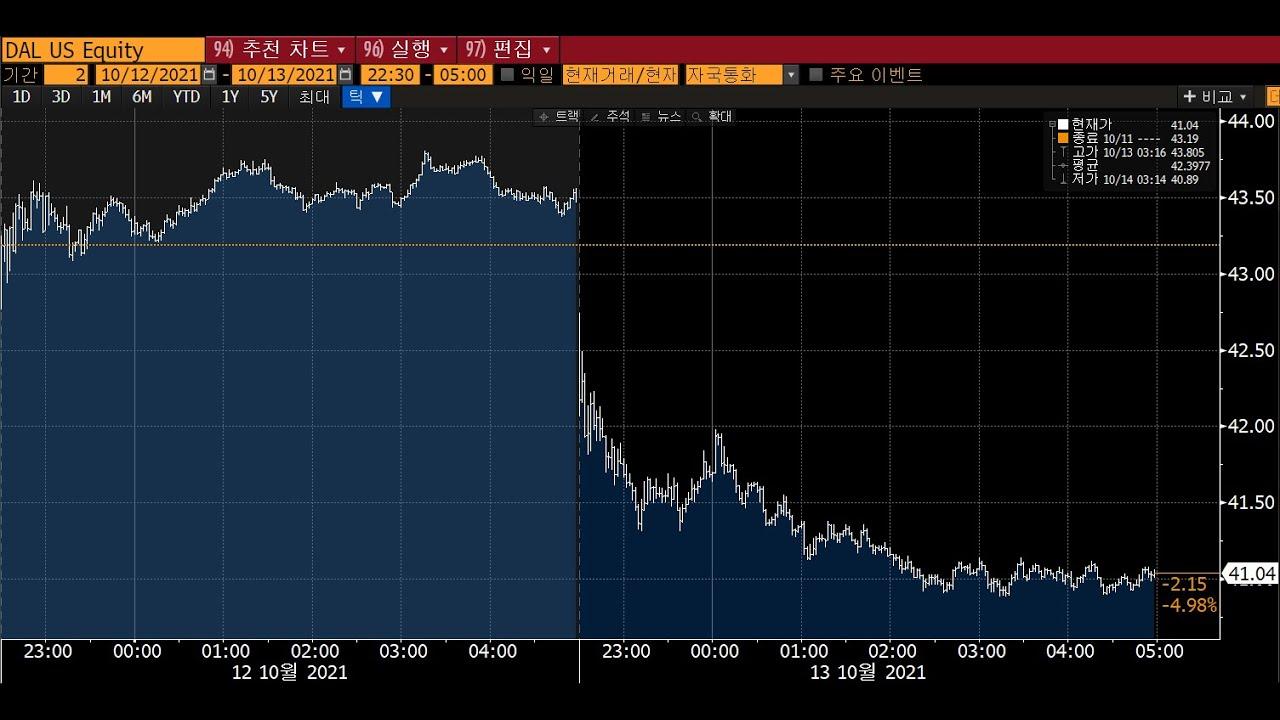 # 델타항공(Delta Air Lines : DAL) 실적발표 이후 급락, 앞으로의 대응과 전망은? 항공유 급등부담은 소비자에게 전가될 것_🌏2021.10.14 해외주식🌏