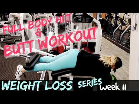 FULL BODY WORKOUT | WEIGHTS & HIIT | WEIGHT LOSS SERIES | WEEKLY VLOG  #11