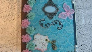 Tea Time Handmade Scrapbook Mini Album