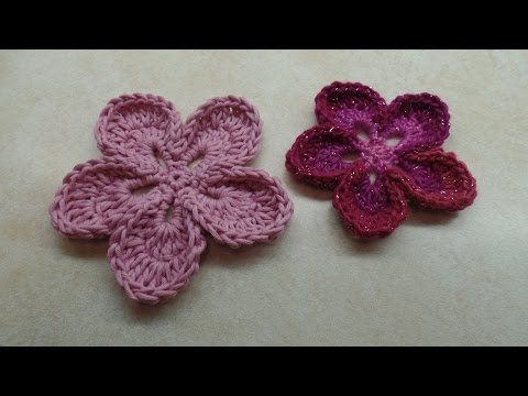 CROCHET  How To #Crochet Easy 5 Petal Flower #TUTORIAL #315 LEARN CROCHET