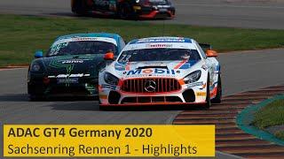 Sieg In Letzter Minute   ADAC GT4 Germany 2020   Sachsenring   Rennen 1 - Die Highlights