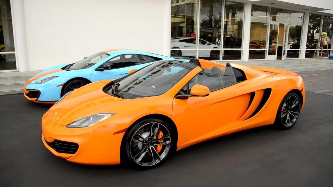 McLaren 12c Spider (New Door Handle/Button Preview) @ McLaren Newport Beach - YouTube & McLaren 12c Spider (New Door Handle/Button Preview) @ McLaren ...