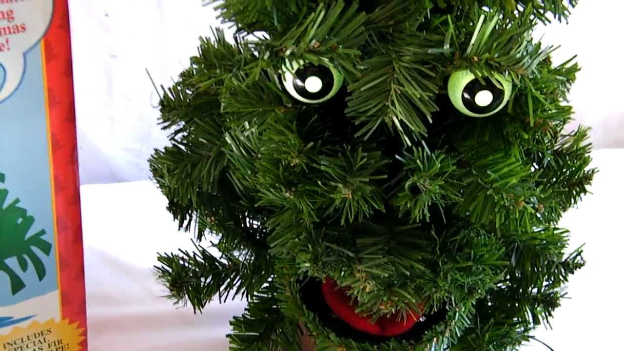 Gemmy douglas fir the talking tree hd youtube for Where can i buy a red christmas tree