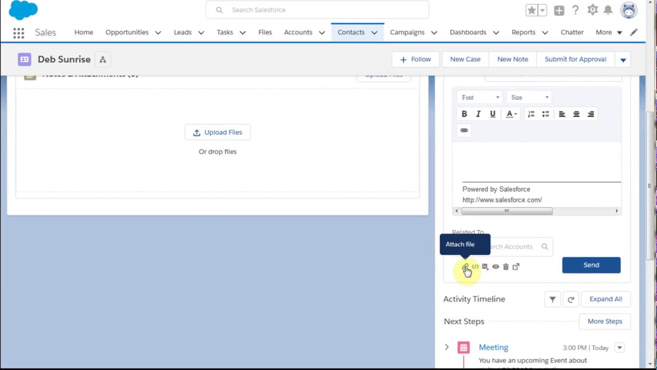 Salesforce Lightning 101 5 Send Email as an Activity using Templates