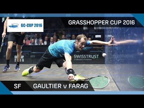 Squash: Gaultier v Farag - Grasshopper Cup 2016 - SF Highlights