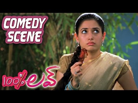 Tamannah Irritating Naga Chaitanya With Chicken | 100 Percent Love | Comedy Scene