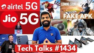 Tech Talks # 1434 - 5G-bekendstelling in Indië, PUBG Fake APK-virus, Samsung 37 Cr Help, IronMan in Navy, C20