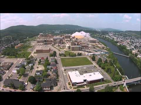 Drone Flying Over Edmundston New Brunswick