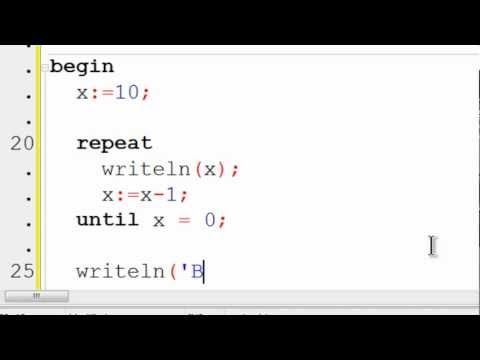 Free Pascal Program Tutorial 8 - Repeat Until Loop - Lazarus