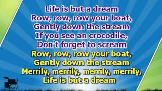 Karaoke for kids - Row, row, row your boat - key -3 - fast - with backing melody ( www.letsing.pl )