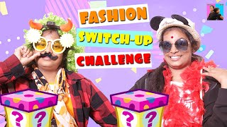 MYSTERY BOX - Fashion SWITCH UP Challenge l Funny videos 2019 l Ayu And Anu Twin Sisters
