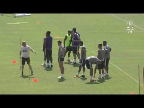 Manchester United LA Training Session Including Andreas Pereira Interview