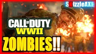 WW2 ZOMBIES GAMEPLAY TRAILER (Call of Duty World War 2 Zombies Reveal Trailer Live Stream)